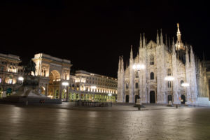 Milano: Duomo di notte, by Flickr User Fortherock