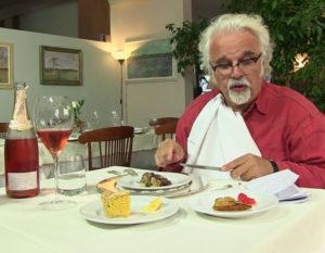 Patrizio mangia al Ristornate Selvatico, Rivanazzano Terme