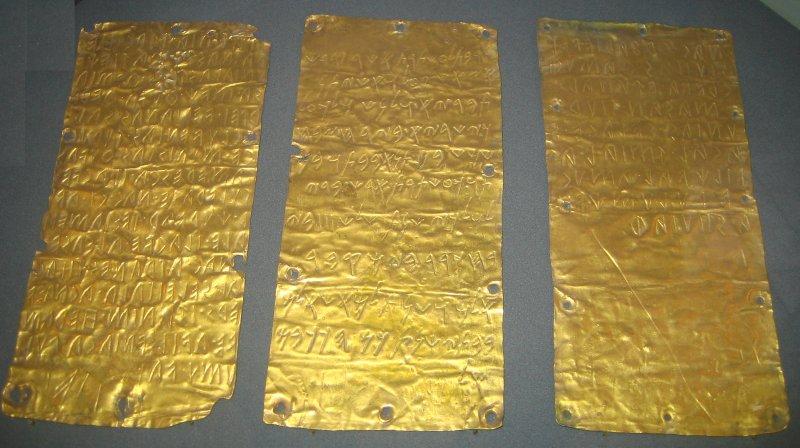 Lamine d'oro di Pyrgi