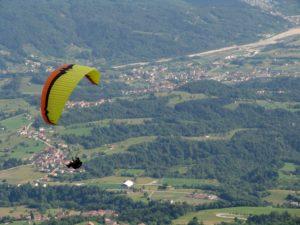 Parapendio in Val Santa Croce