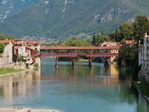 Bassano del Grappa, bridge of the Alpine