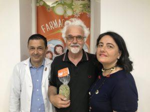 Patrizio Roversi alla Farmacia Serra Genova
