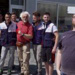 Selfie di gruppo (Patrizio e i ragazzi della SMC Ricambi)