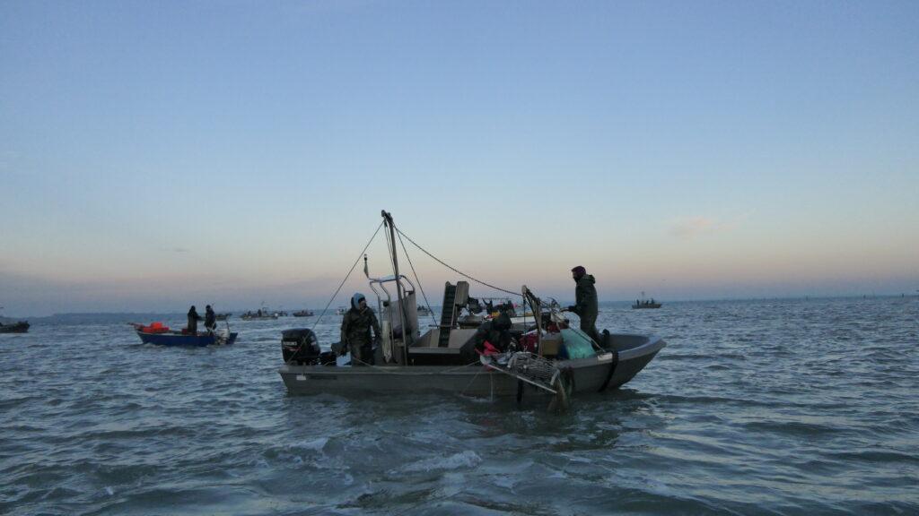 Pescatori nel Delta del Po
