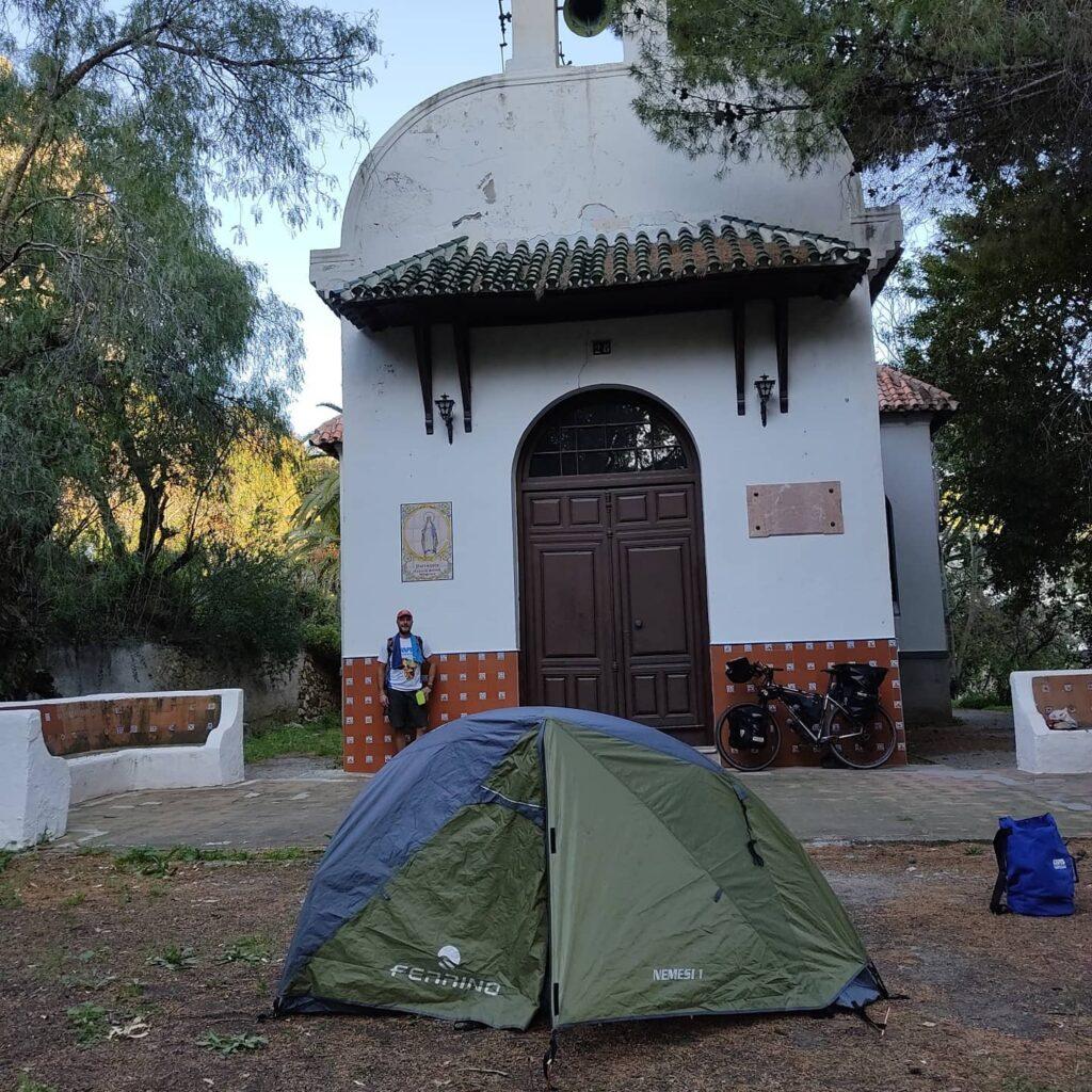 Daniele dopo 60 km pernotta a El Chorro