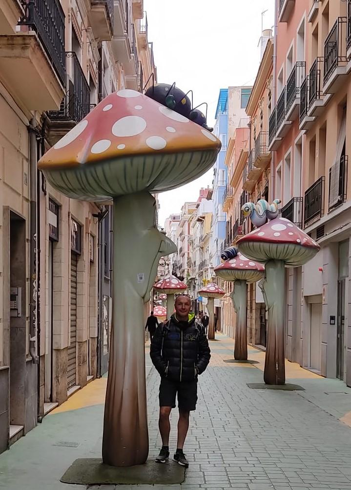 Daniele tra le vie di Alicante