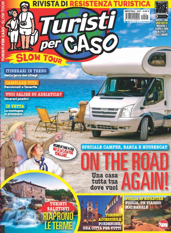 La copertina di Turisti per Caso Slow Tour di aprile e maggio