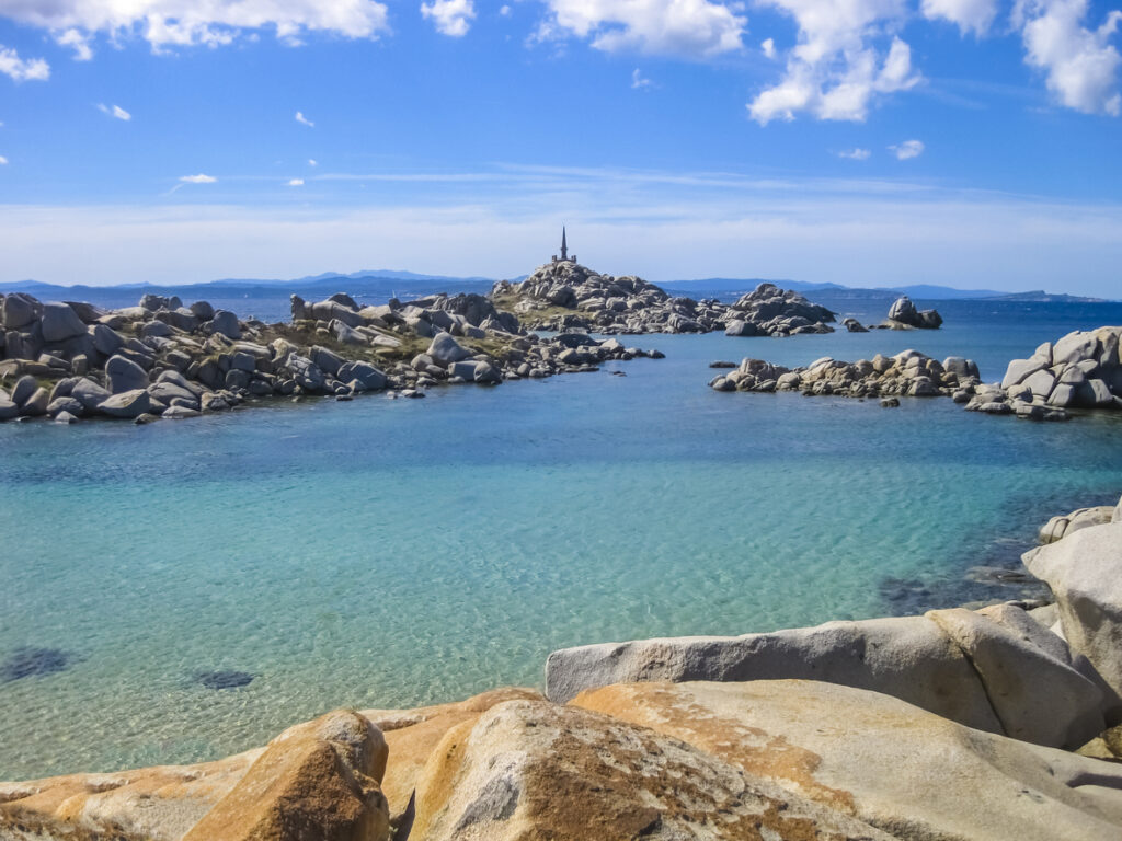 Emerald sea of Lavezzi Island, Corsica, France
