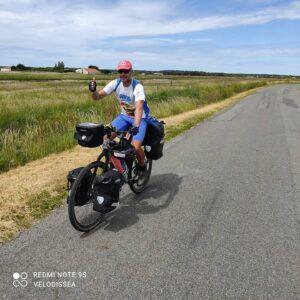 Daniele sull'itinerario EuroVelo1