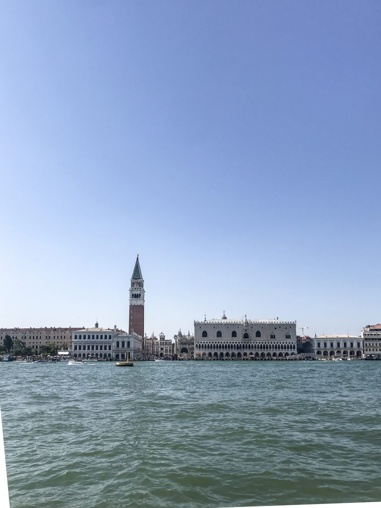 Venezia Piazza San Marco vista dal vaporetto mentre ritorniamo in Stazione